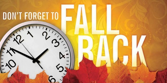 Remember…Daylight Savings Time Ends this Weekend!